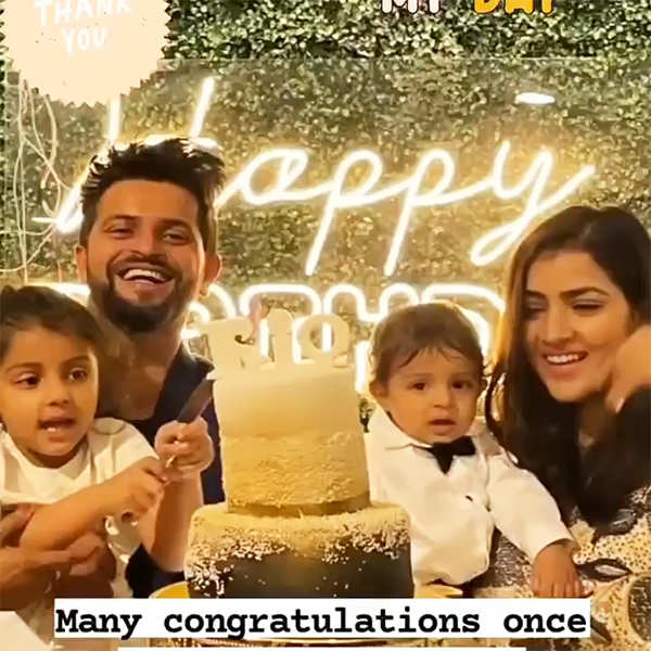 Inside pictures from Suresh Raina's son's first birthday celebration