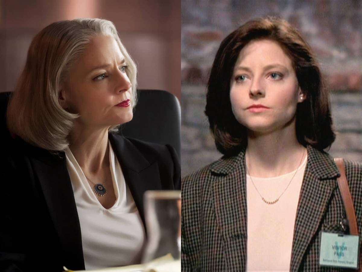 Now and then: Foster as Hollander and as Clarice Starling in 'The Silence of the Lambs'