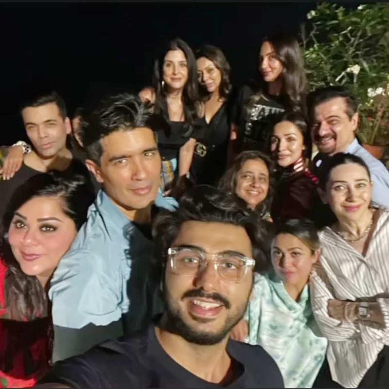 Malaika Arora, Arjun Kapoor and other celebs party hard at Amrita Arora's house