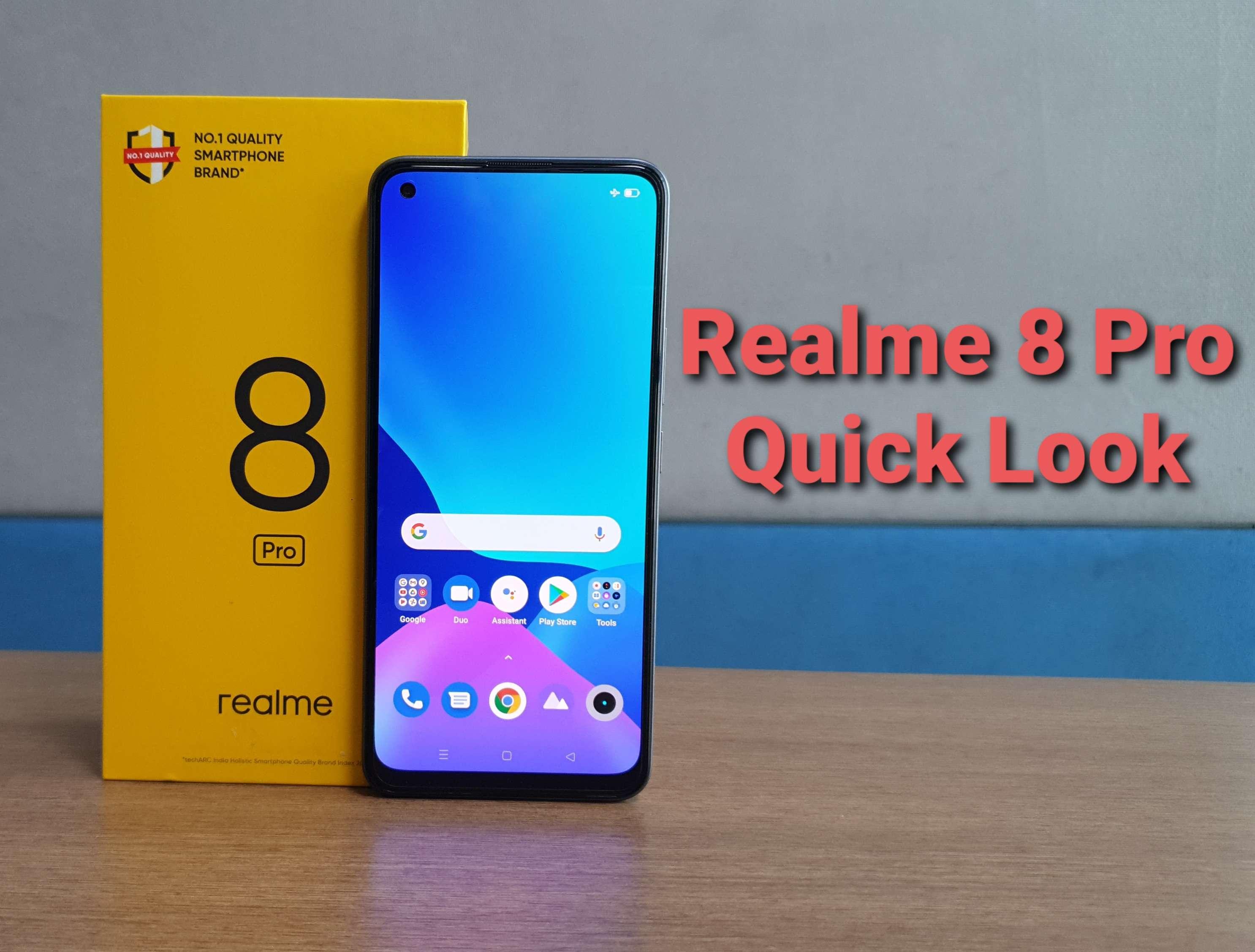Realme 8 Pro quick look