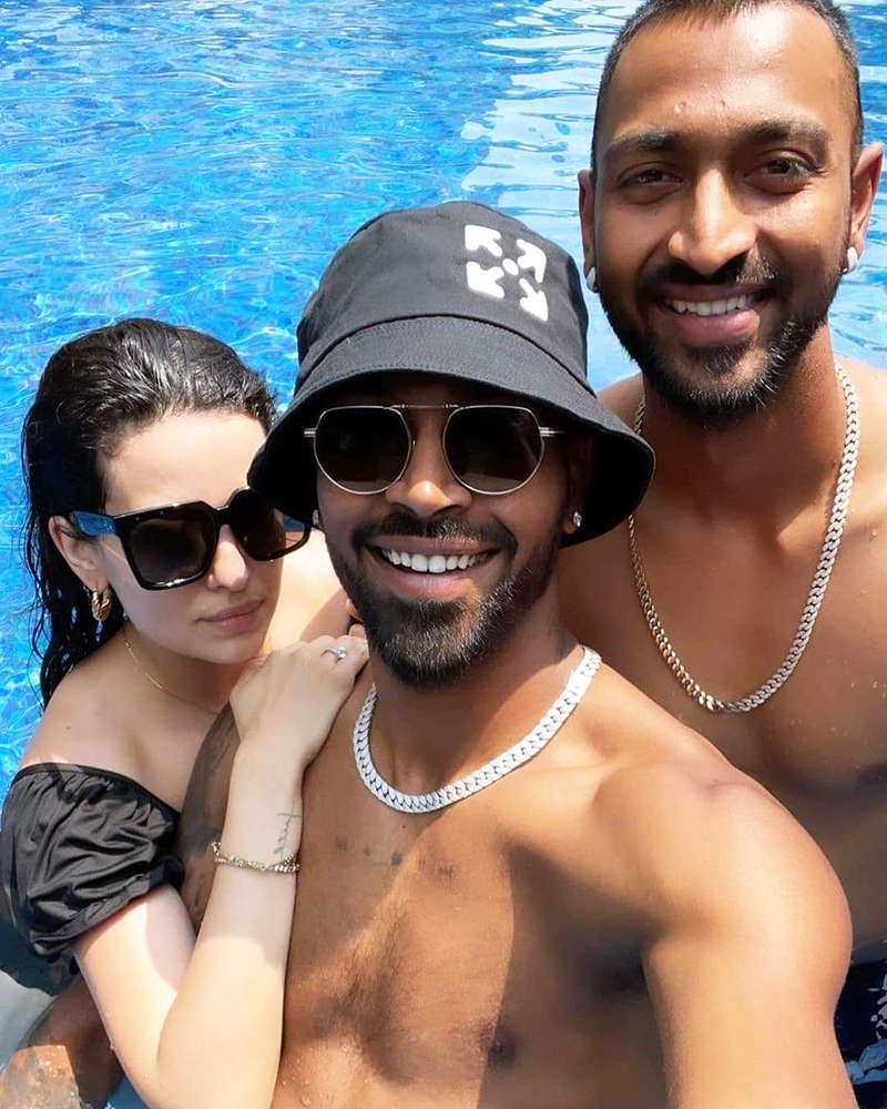 New pool party picture of Hardik Pandya and Natasa Stankovic go viral