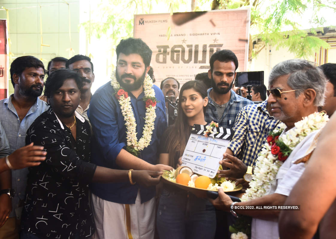 Celebs attend the puja of Kollywood film Sulphur