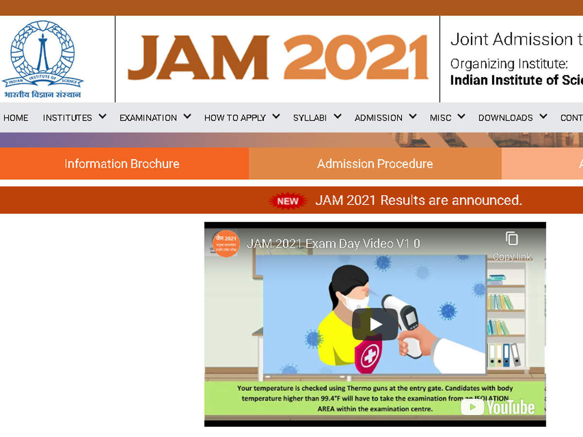 IIT JAM 2021 scorecard to be released today, check details
