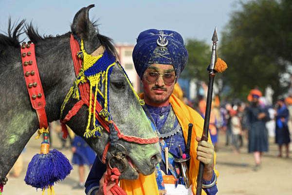 Sikh devotees celebrate Hola Mohalla festival
