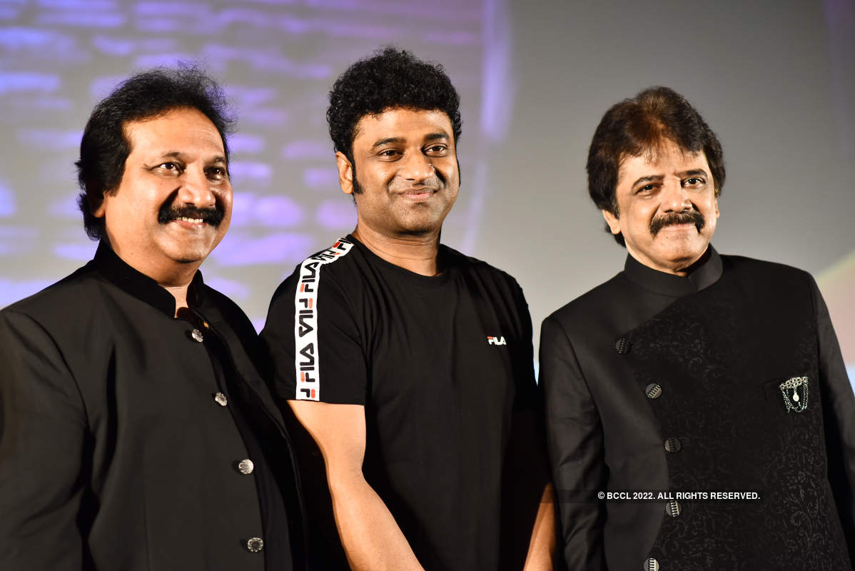 Devi Sri Prasad and other singers attend the launch of a new music show
