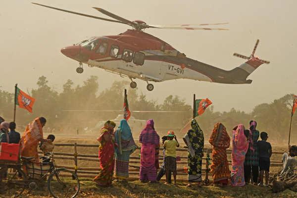 Amit Shah holds massive roadshow in Bengal's Nandigram