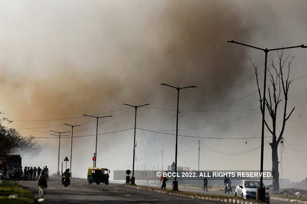 Massive fire breaks out at Dadu Majra dumping ground