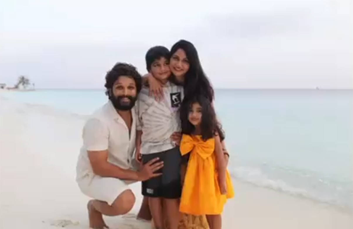 Allu Arjun shares stunning pictures from his beach vacay with family in Maldives