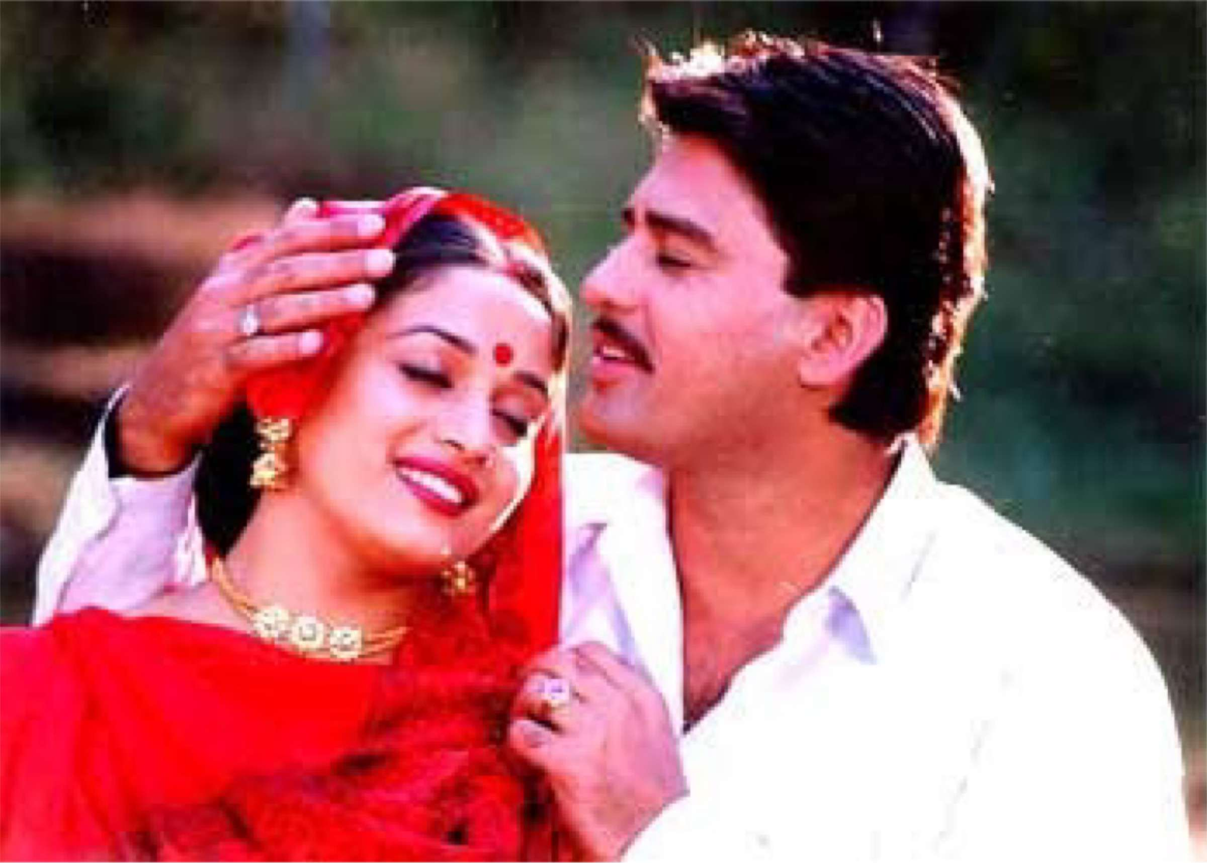 Madhuri Dixit and Ayub Khan