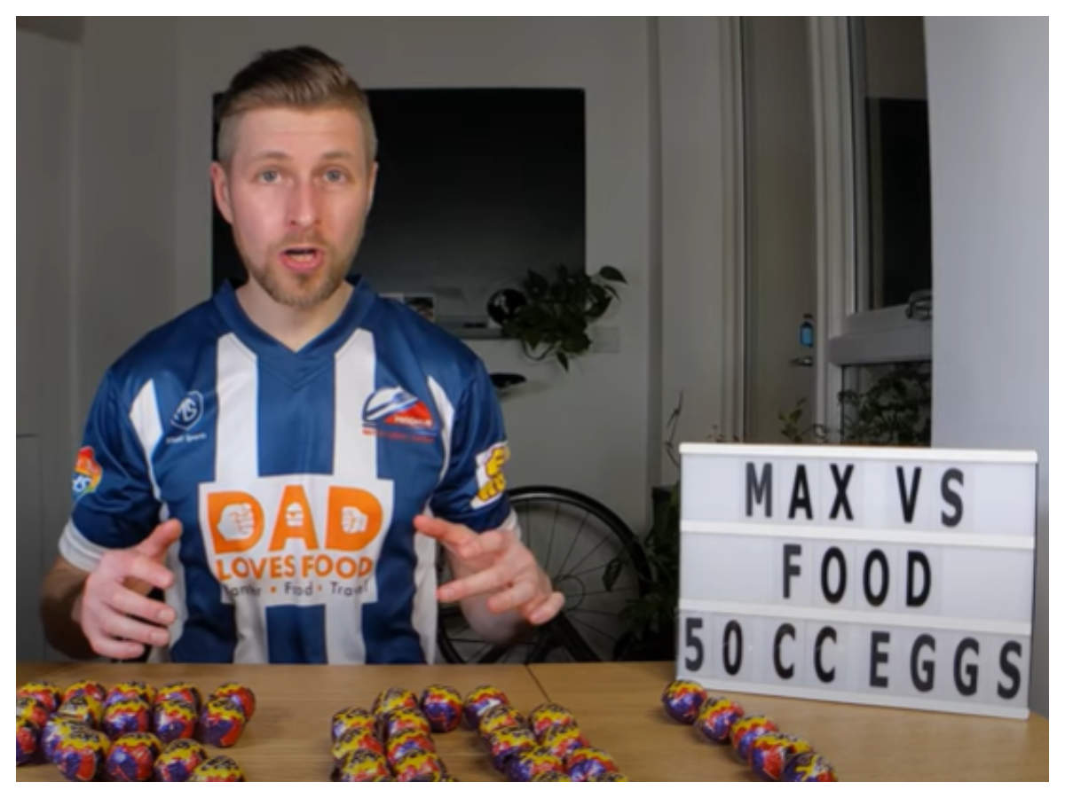 Man eats 50 Chocolate Eggs in 24 minutes, internet is surprised