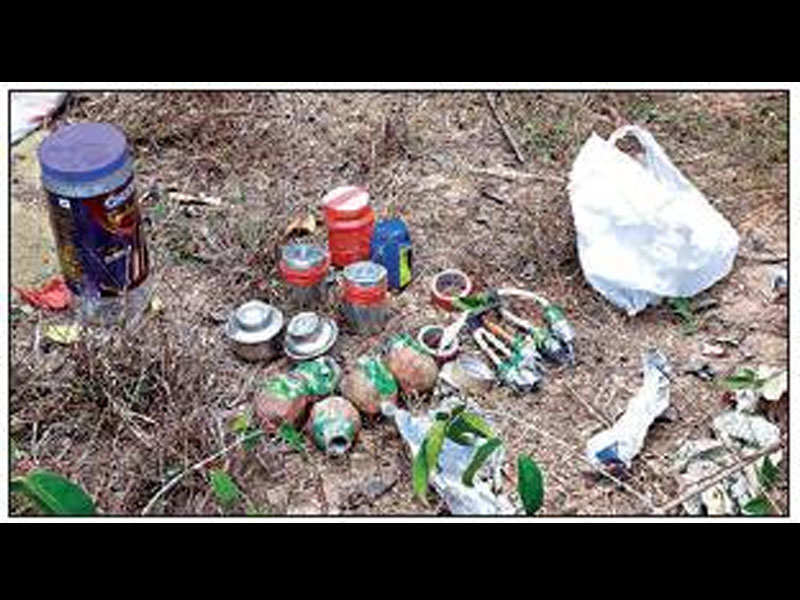 CM Pinarayi Vijayan's hoarding found with crude bombs