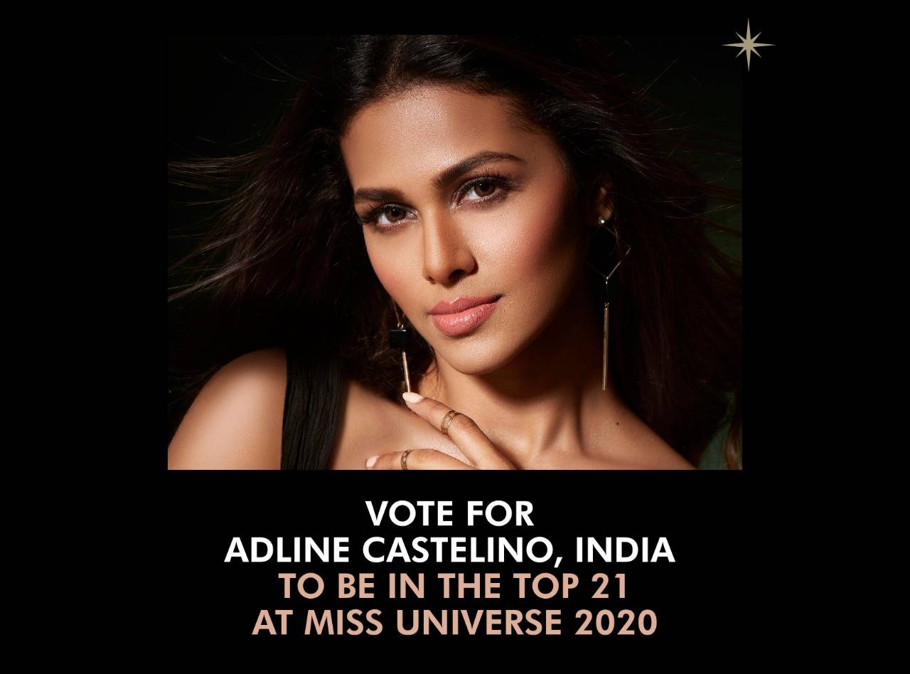 Cast your vote for India's favourite Adline Castelino to be in the Top 21 at Miss Universe 2020