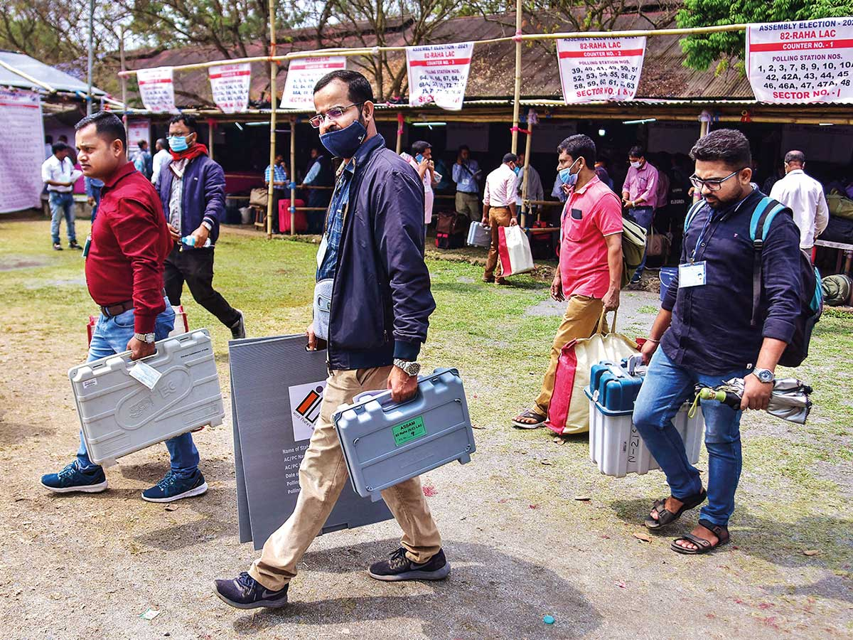 EC announces re-polling in 4 Assembly constituencies of Assam on April 20