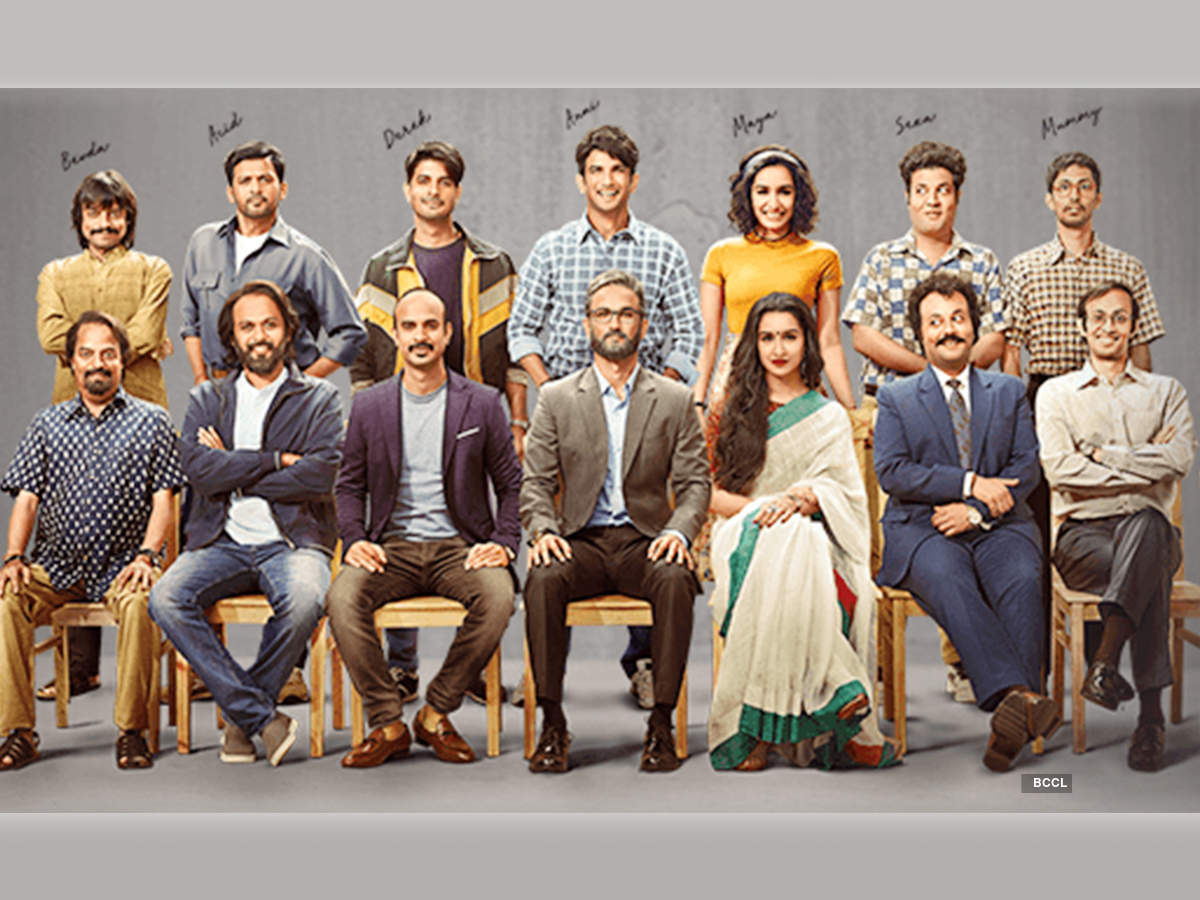 Saharsh Kumar Shukla (extreme left) with the other cast of the film Chhichhore
