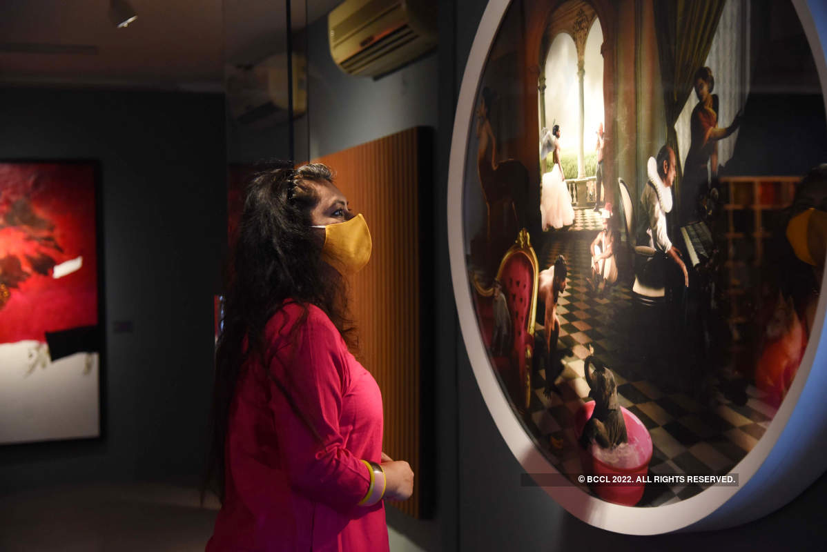 Artists showcase exotic work at an exhibition