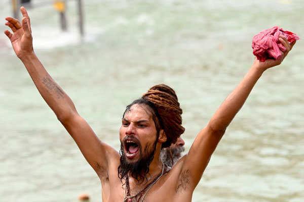 Kumbh Mela: These pictures show how Naga Sadhus take holy dip on 'Shahi Snan'