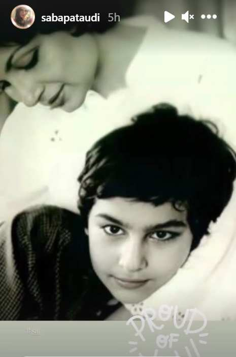 Saif ALi Khan and Sharmila Tagore