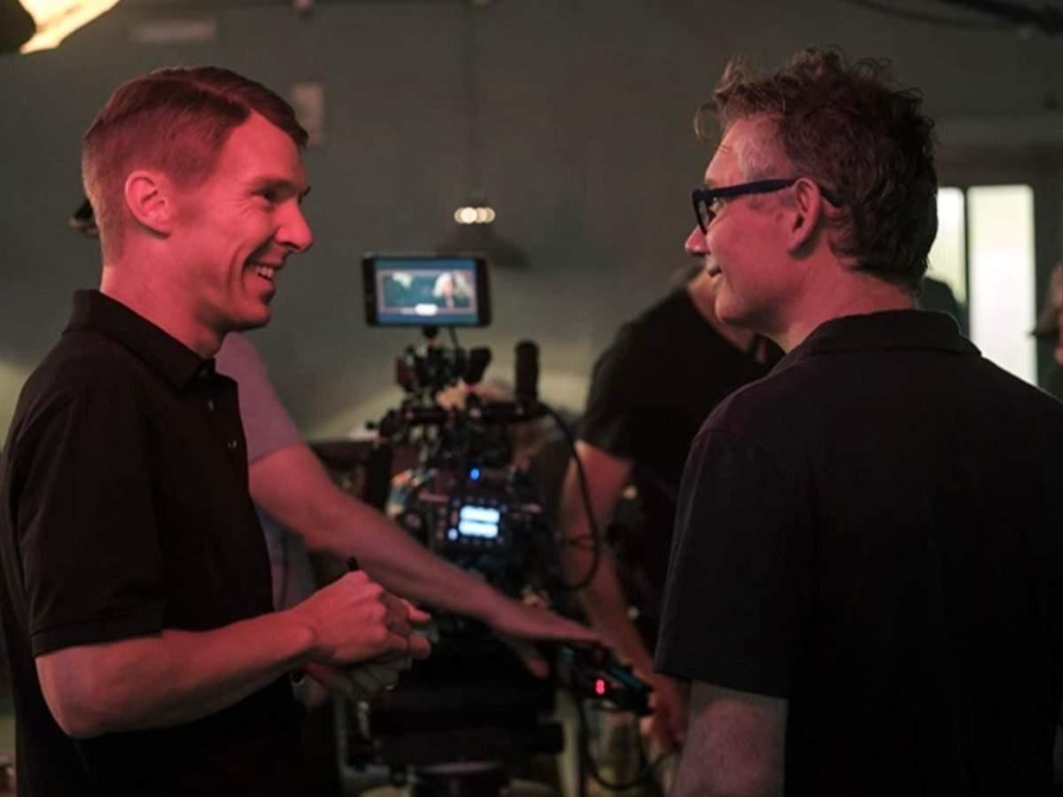 Macdonald and Benedict Cumberbatch share a light moment