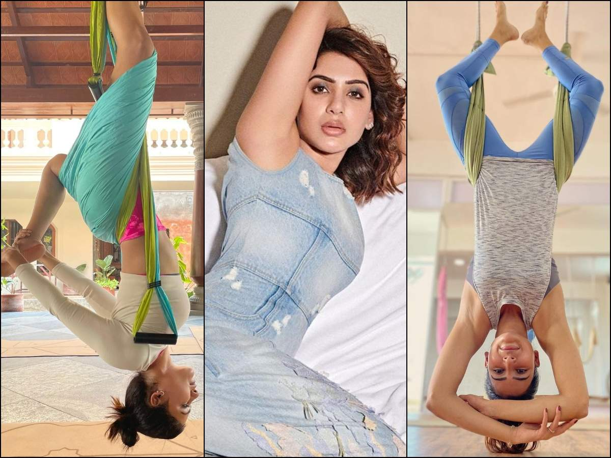 Pics: Samantha gives out fitness goals