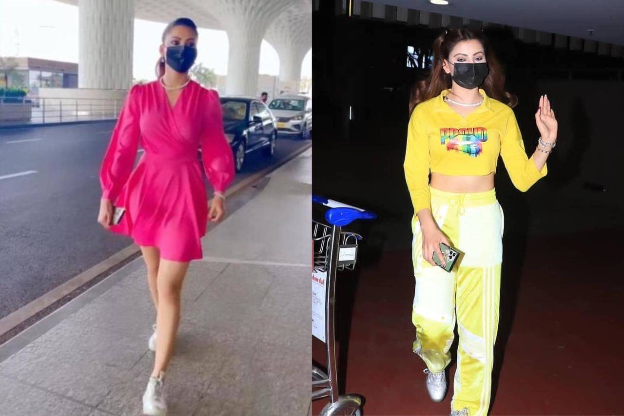 Urvashi Rautela proves that she is a fashionista with her comfy yet stylish airport looks