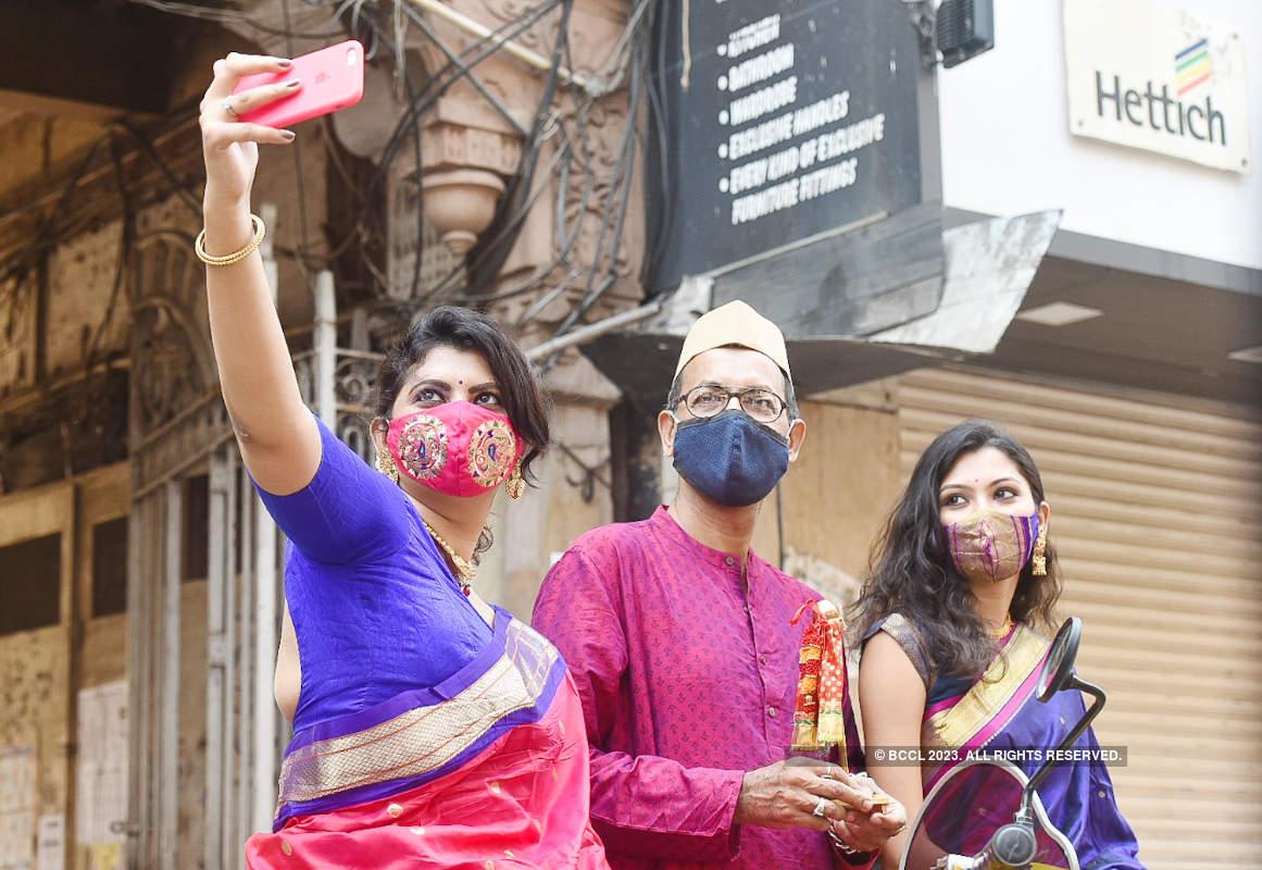 Mumbaikars celebrate Gudi Padwa amid covid restrictions