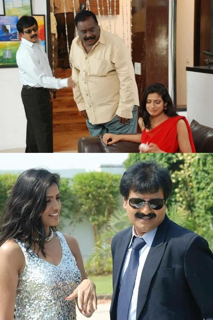 Still of Kanishka Soni & Vivek from the South film Pathayeram Kodi