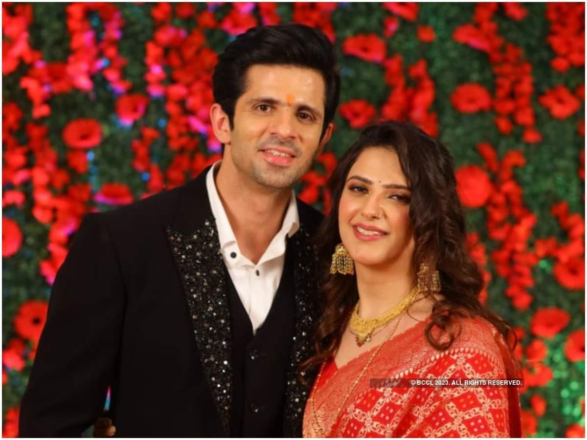 Kunal and Sanjana at their reception