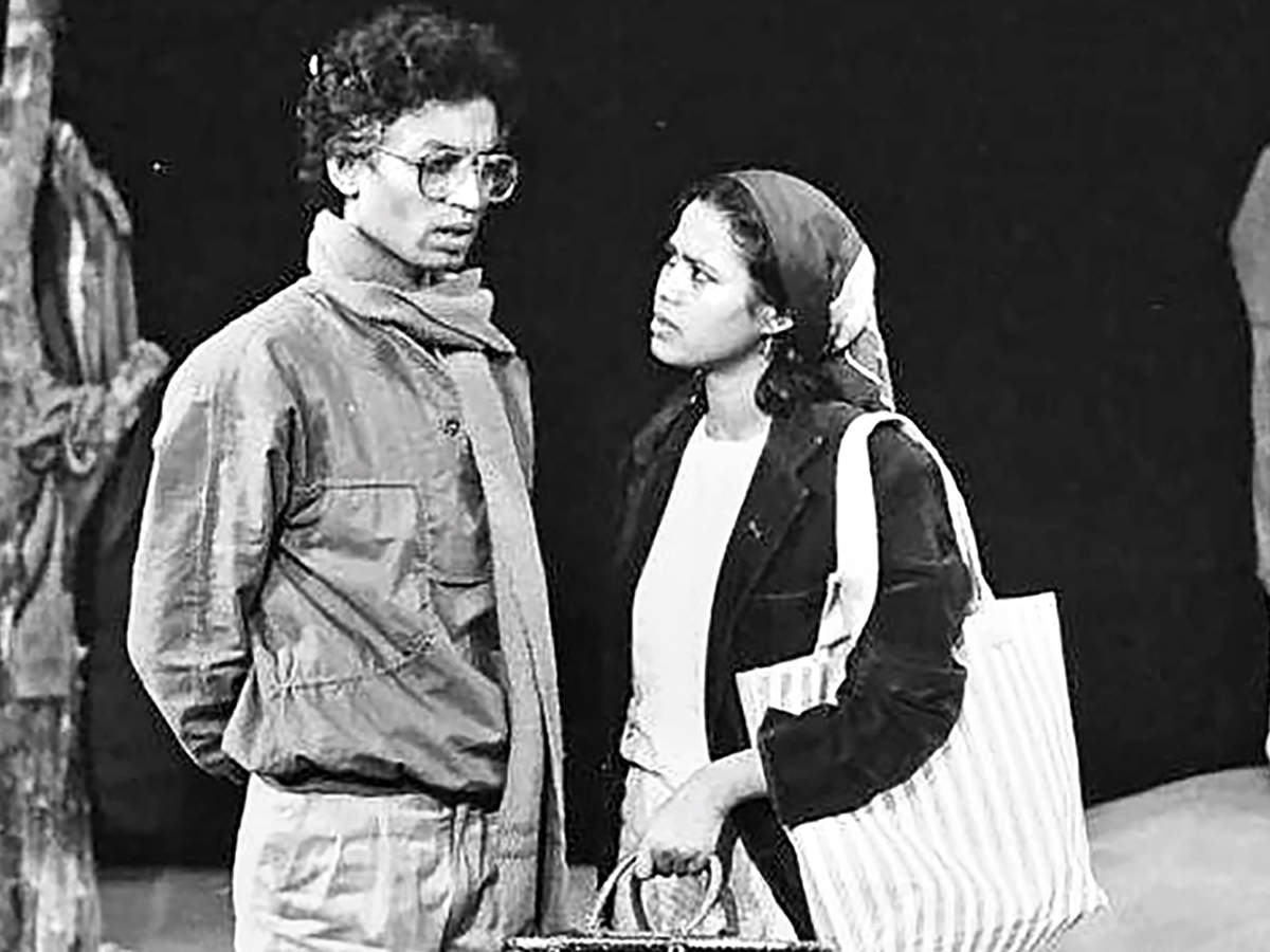 Irrfan and Sutapa in their NSD days