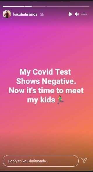 Kaushal tests negative