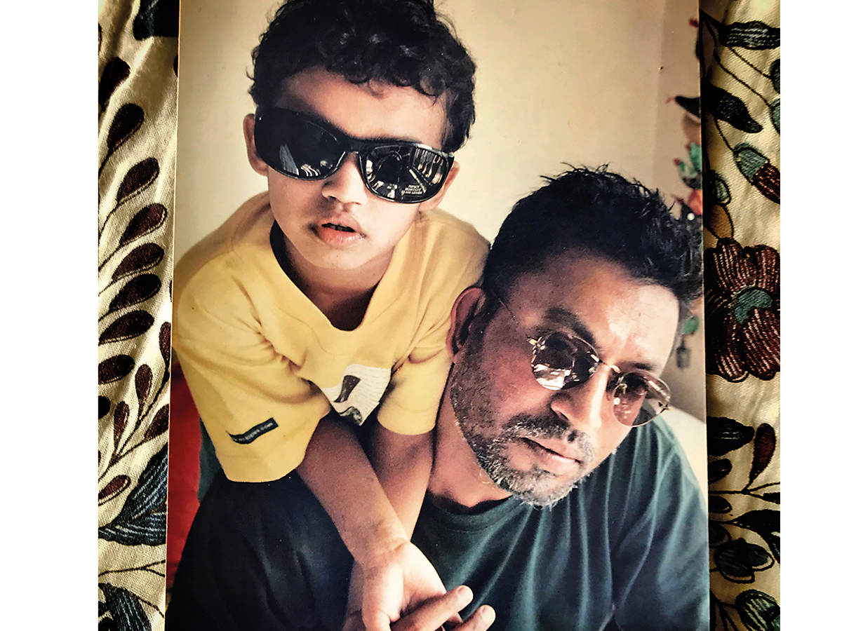 Babil and Irrfan Khan
