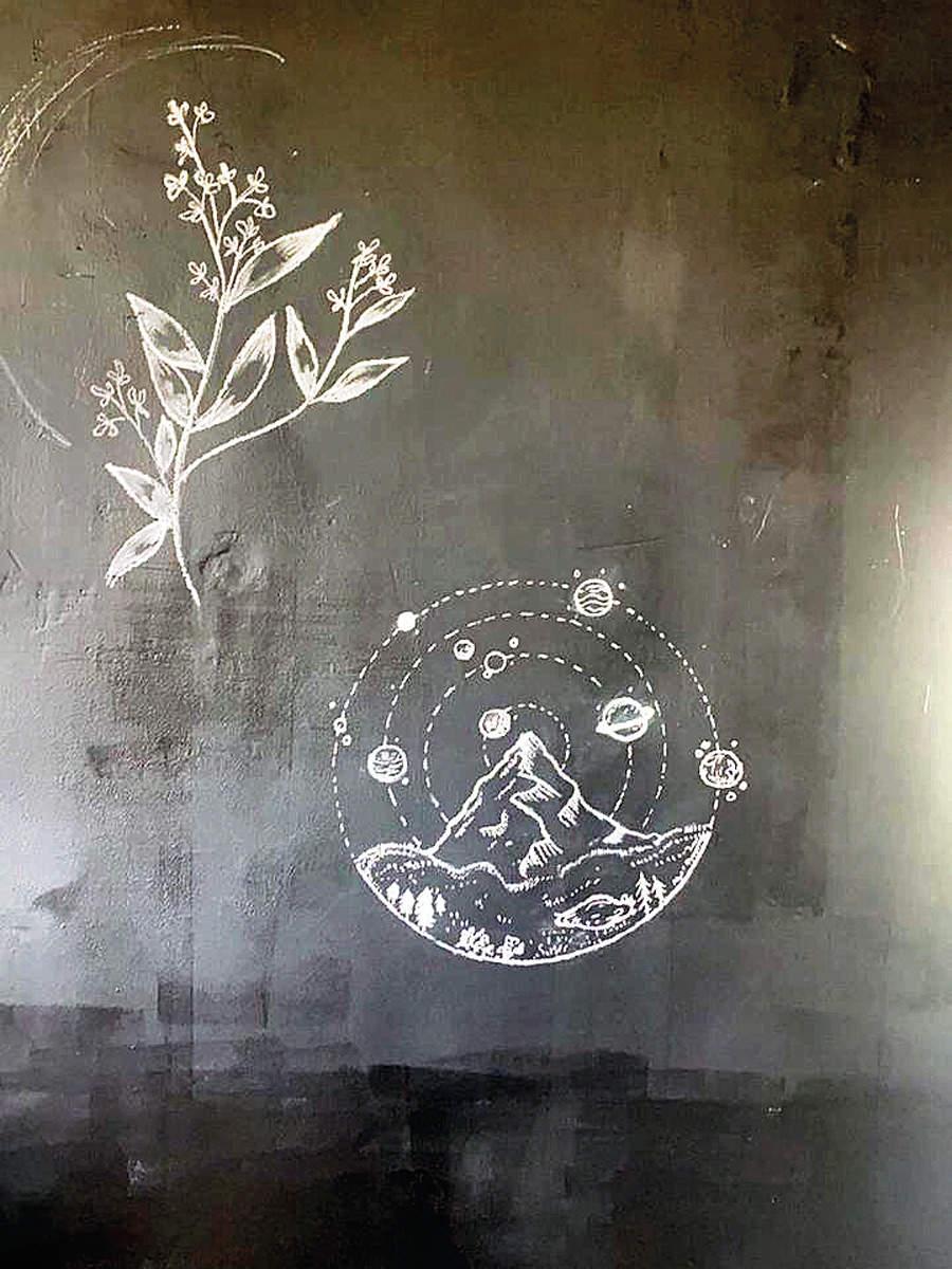 Fatima's art work during her home quarantine