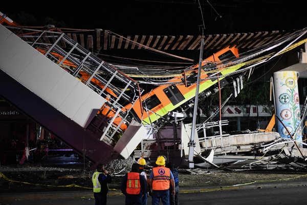 23 killed in Mexico City underground rail bridge collapse