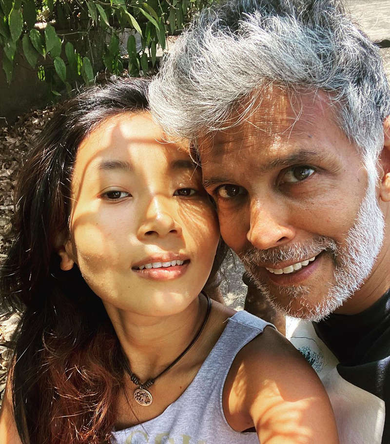 Loved-up selfies of Milind Soman and wifey Ankita Konwar