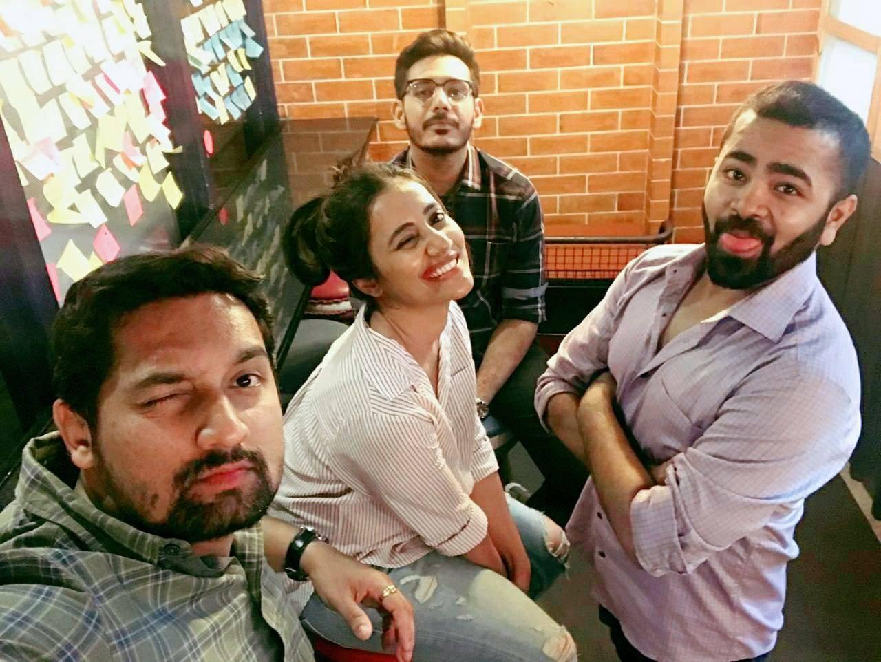 Rutuja with her pandemic moms Sahil Janorikar, Ranjit Vitankar and Shubham Agrawal.