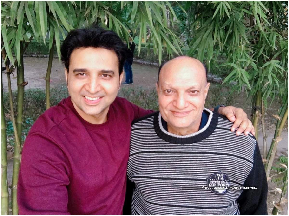 Romanch with his father Subhash Mehta