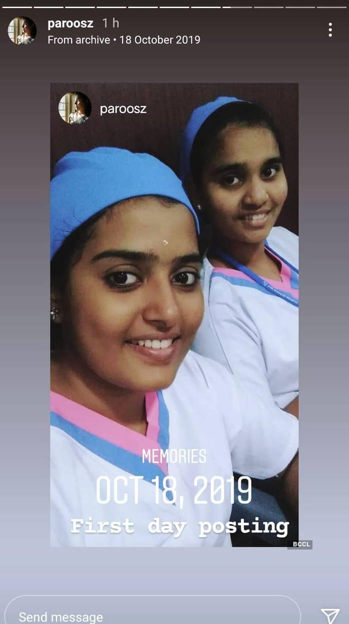 Vidhya Chandran gets nostalgic as she shares picture of first day of duty as a nurse