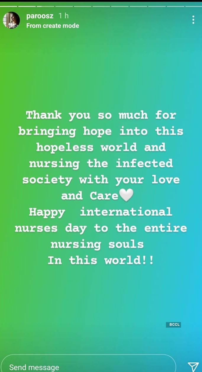 Actress Vidhya Chandran shares message of gratitude to nurses