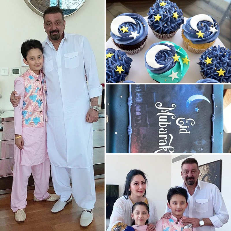 Inside pictures from Sanjay Dutt's Eid celebration with Maanayata and kids