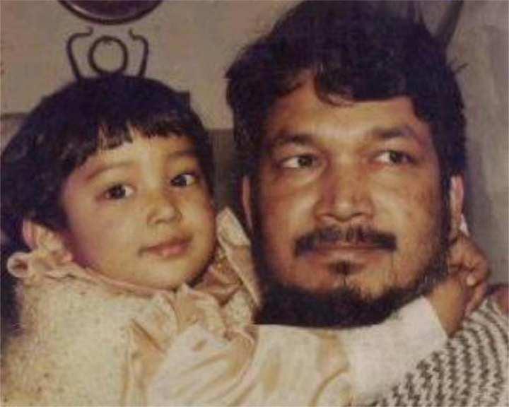 Priyamvada Kant with her father