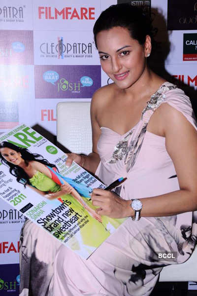 Sonakshi at mag cover launch