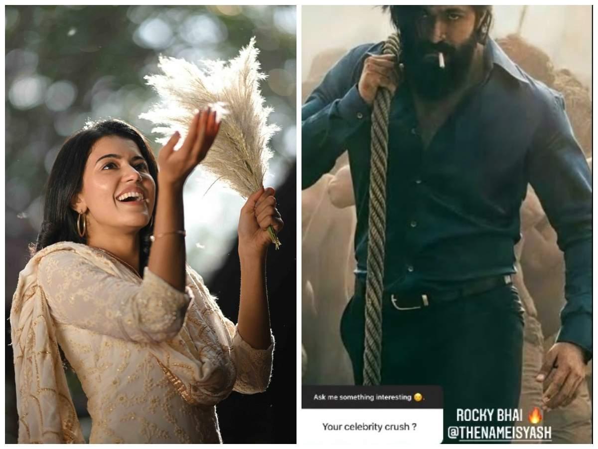 Anju Kurian named Yash as her celebrity crush