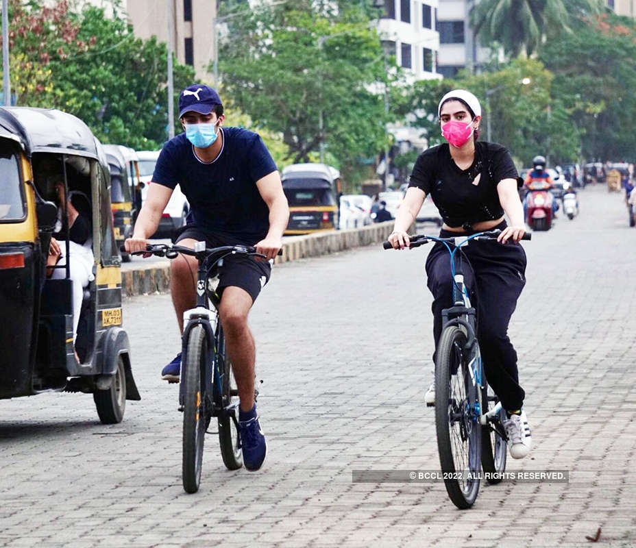New pictures of Khushi Kapoor enjoying cycling with a friend go viral