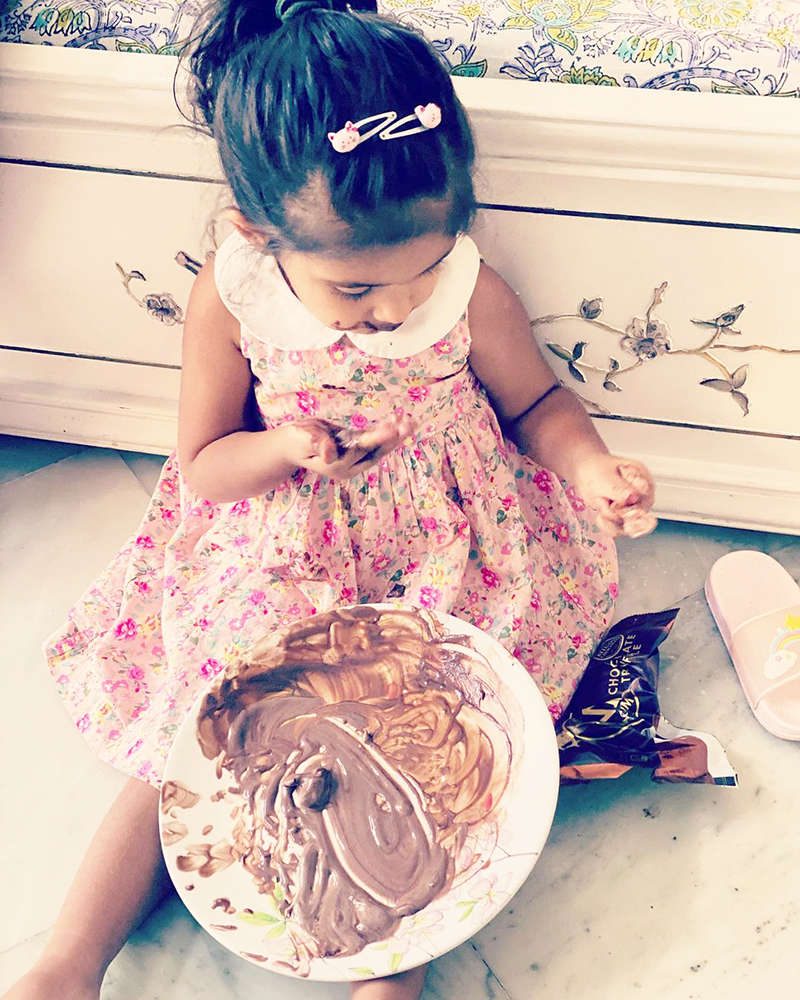 Neha Dhupia shares adorable pictures of little daughter Mehr on her birthday