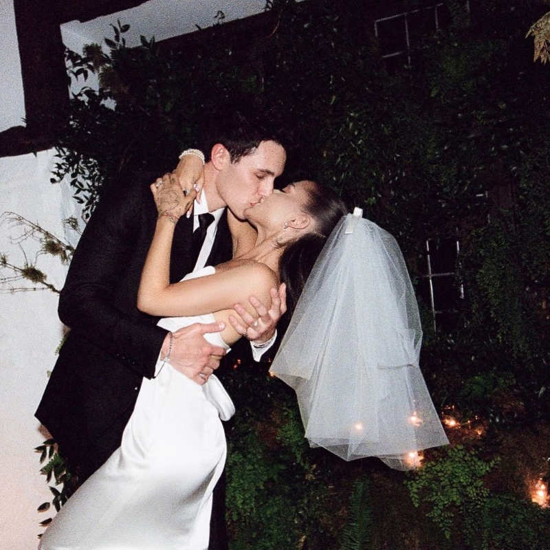 Dreamy pictures from Ariana Grande and Dalton Gomez's intimate wedding ceremony