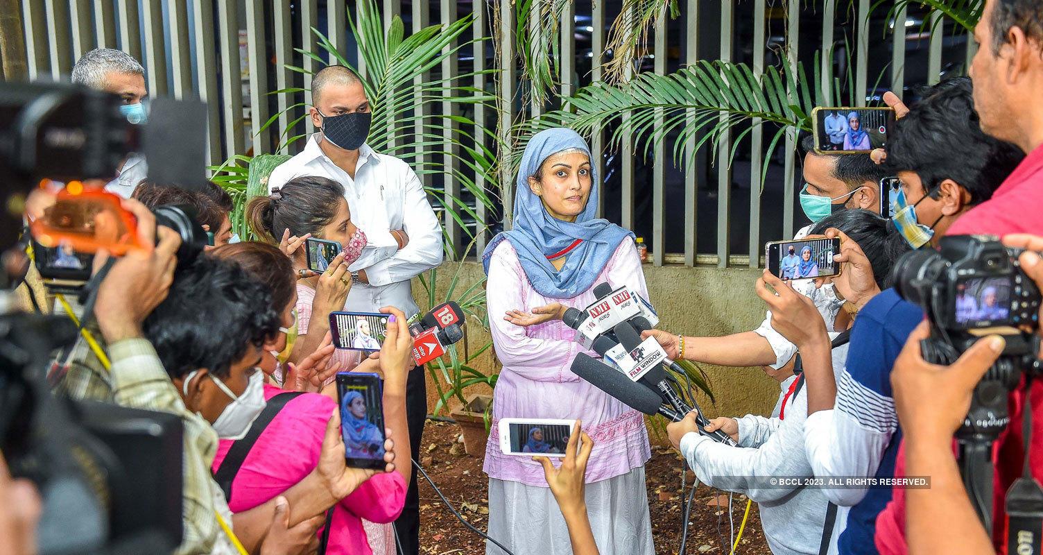 Karan Mehra's wife Nisha Rawal breaks down at press conference