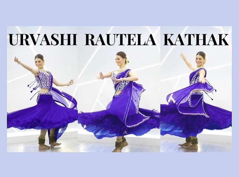 Urvashi Rautela celebrates the success of 'Doob Gaye' by performing Kathak