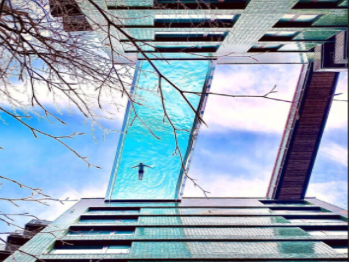 London get world's first transparent swimming pool, suspended between two buildings