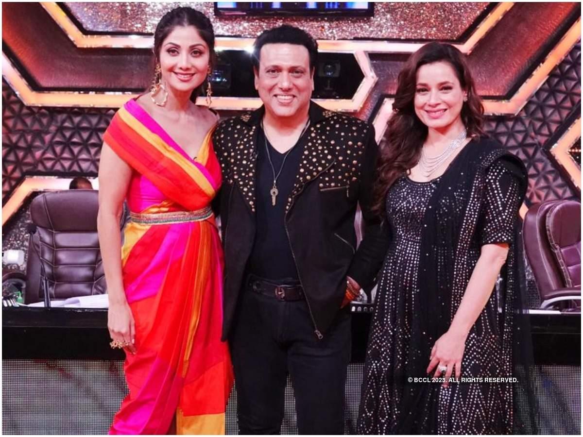Neelam with Shilpa Shetty Kundra and Govinda