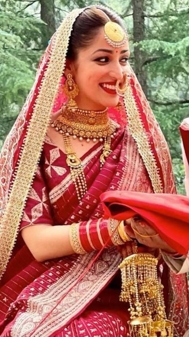 Yami Gautam to Dia Mirza: Celebs who wore saris for their wedding | Times of India