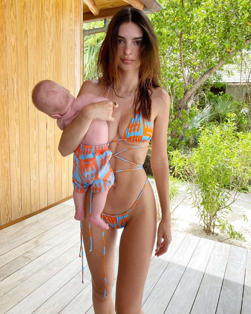 Adorable pictures of Emily Ratajkowski twinning with son Sylvester on her birthday eve go viral!